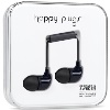 HAPPY PLUGS IN-EAR BLACK P-HF